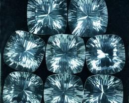 81.26 Cts Natural White Quartz Concave Cut Cushion Brazil