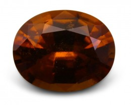 3.08 ct Oval Hessonite Garnet - $1 No Reserve Auction