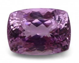 21.37 ct Cushion Kunzite - $1 No Reserve Auction
