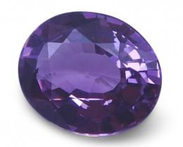 1.27 ct Oval Violet Spinel