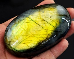 Genuine 930.00 Cts Golden Flash Labradorite Oval Shape Cab