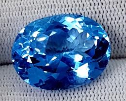 28.60CT SWISS BLUE TOPAZ  BEST QUALITY GEMSTONE IGC514
