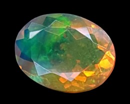0.80CT FACETED OPAL HIGH FIRE  BEST QUALITY GEMSTONE IGC514