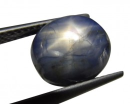 6.36 ct Oval Star Sapphire -$1 No Reserve Auction