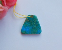 15.25ct Natural Blue opal pendant bead rare gemstone (18091173)