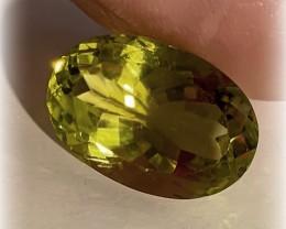 12.04ct Green Gold Quartz Gem VVS