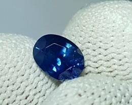 CERTIFIED 1.06 CTS NATURAL BEAUTIFUL VIVID BLUE SAPPHIRE FROM SRI LANKA