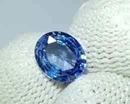 UNHEATED 1.14 CTS CERTIFIED OVAL MIX CORNFLOWER BLUE SAPPHIRE CEYLON
