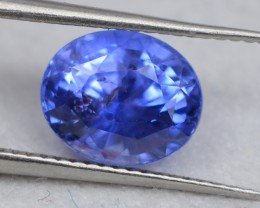 CERTIFIED 1.76 CTS NATURAL BEAUTIFUL OVAL MIX  VIOLETISH BLUE SAPPHIRE CEYL
