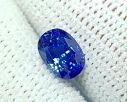 1.02 CTS NATURAL BEAUTIFUL CUSHION MIX CORNFLOWER BLUE SAPPHIRE CEYLON