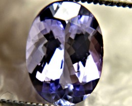 1.85 Carat Vibrant Purple / Blue VVS Tanzanite - Gorgeous