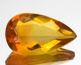 1.20 Cts Natural Yellowish Orange Mexican Fire Opal Pear