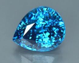 18.02 Cts Mesmerizing Attractive Color Natural Top Deep Blue Zircon