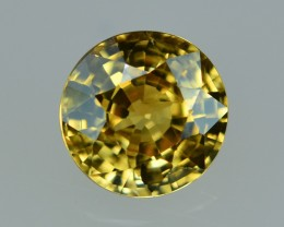 3.60 Cts Marvelous Lustrous Round Yellow Zircon