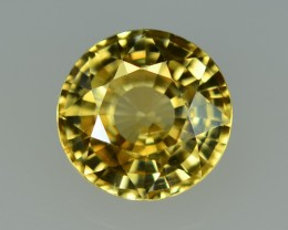 4.46 Cts Dazzling Lustrous Round Yellow Zircon