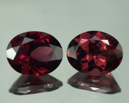 6.49 CT 10X8 MM AAA QUALITY RHODOLITE GARNET PAIR - RD297