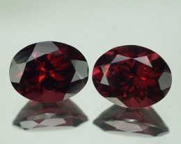 6.93 CT 10X8 MM AAA QUALITY RHODOLITE GARNET PAIR - RD298