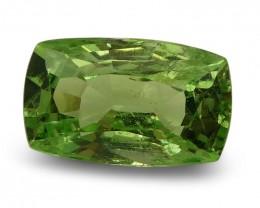 2.24 ct Cushion Green Grossularite / Tsavorite Garnet