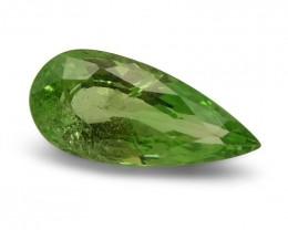 2.55 ct Pear Green Grossularite / Tsavorite Garnet