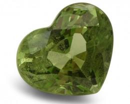 2.93 ct Heart Green Grossularite / Tsavorite Garnet