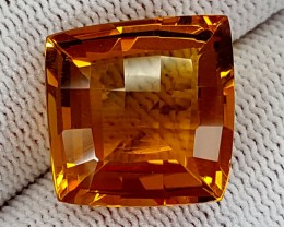 17.75CT MADEIRA CITRINE  BEST QUALITY GEMSTONE IGC515