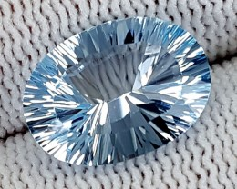 6.75CT BLUE TOPAZ LASER CUT  BEST QUALITY GEMSTONE IGC515