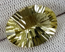 14CT LEMON QUARTZ LASER CUT  BEST QUALITY GEMSTONE IGC515