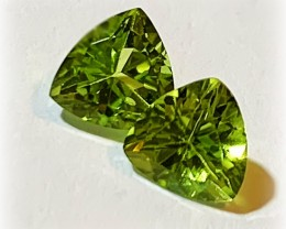 6.00mm JEWELLERY GRADE PERIDOT PAIR GORGEOUS GEMS
