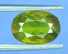 1.35 ct Natural Green Sphene From pakistan