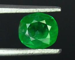 0.75 ct Natural Vivid Green Color Emerald~Swat T