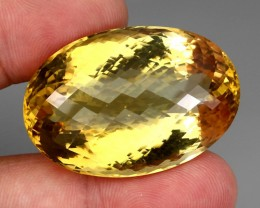 129.93 Ct. 100% Natural Top Yellow Golden Citrine Unheated Brazil Big!