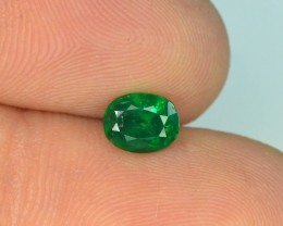 0.60 ct Natural Vivid Green Color Emerald~Swat T