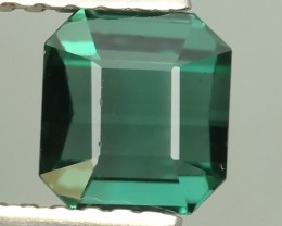 1.00 CTS LUXURY! BLUE~GREEN TOURMALINE OCTAGON-CUT  MOZAMBIQ NR!!!