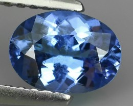 1.00 CTS MIND BOGGLING NATURAL RICH FIRE BLUE COLOR TANZANITE NR!!!