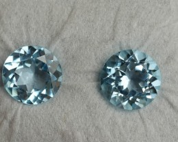 7.95 CRT GORGEOUS SKY BLUE TOPAZ PAIR FACETED-