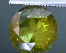 4.55, Crt  Natural Chrome Sphene Faceted Gemstone