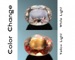 Gil Certified AAA Grade 3.63 ct Turkish Color Change Diaspore SKU.6
