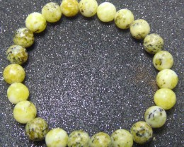 86.15 cts Serpentine cabs beads Stone 8 MM Bracelet