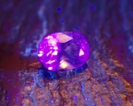 1.23 ct Top Quality Fluorescent Transparent Faceted Richterite Winchite