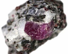 (MGW)  NATURAL RUBY SPECIMEN - RUSSIA 25 CTS FP 183
