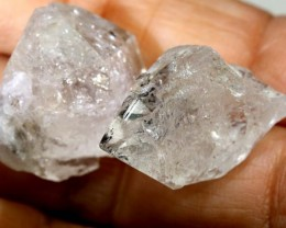 45 CTS-CRYSTAL QUARTZ-LIKE HERKIMER-DIAMONDS 2PCS LG-2143