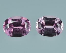 2.80 Cts Beauteous Eye Clean Perfect Pink Spinel Pair