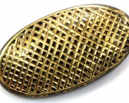 28CTS BLACK ONYX  24K GOLD ENGRAVED  LG-834