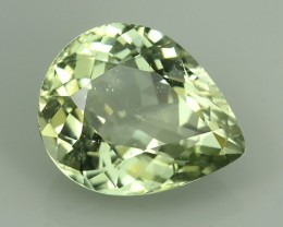 8.00 CTS MAJESTIC RARE NATURAL PEAR SOFT GREEN-TOURMALINE MOZAMBIQ NR!!!