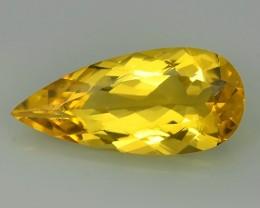 6.45 Cts AMAZING NATURAL RARE GOLDEN YELLOW BERYL GEM~~