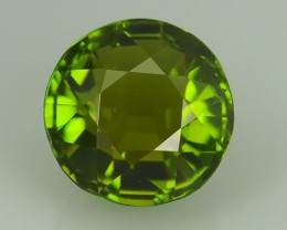 EXCELLENT~3.00 CTS WONDERFULL CHARMING NATURAL TOP GREEN ROUND TOURMALINE~