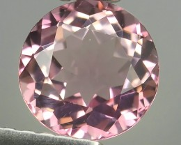 ~AWESOME NICE ROUND-NATURAL SWEET-PINK-TOURMALINE FACET GENUINE~