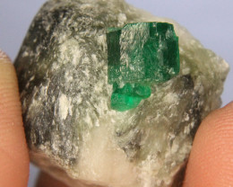 Swat Natural Damaged Free Emerald Specimen From Pakistan