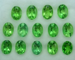 19.57 Cts Natural Forest Green Fluorite Oval 8x6 Calibrated Afghanistan