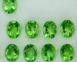 24.35 Cts Natural Forest Green Fluorite Oval 10x8  Calibrated Afghanistan